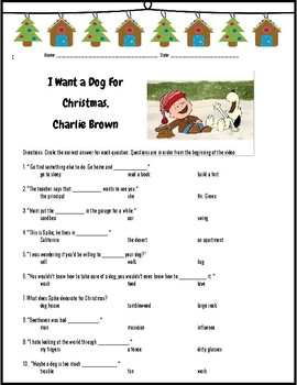I Want a Dog For Christmas, Charlie Brown -Fun Movie Questions