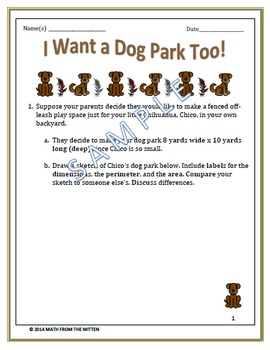 I Want a Dog Park Too: Discovering Patterns with Perimeter and Area