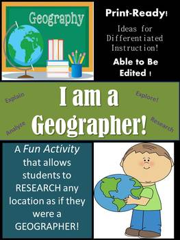 I am a Geographer!