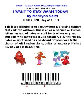 I Want to Stay Warm Today! Song about fun things in winter...