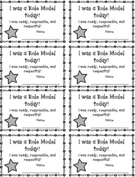 I Was a Role Model Today! Cards {FREEBIE}