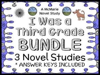 I Was a Third Grade Bundle (Mary Jane Auch) 3 Novel Studies / Comprehension