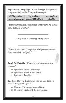 I Was a Third Grade Spy (Mary Jane Auch) Novel Study / Reading Comprehension