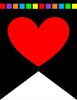 I (We) Love/Heart Math Banner