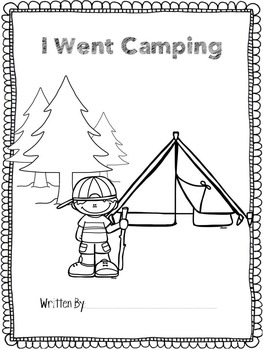 I Went Camping Writers Workstation