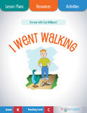 I Went Walking Lesson Plans & Activities Package, Kinderga