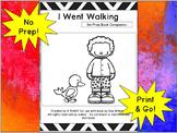 I Went Walking:  No Prep Book Companion