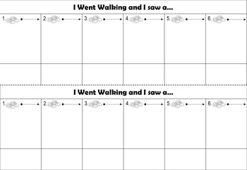 I Went Walking by Sue Williams: After Reading Sequencing Activity