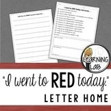 """""""I Went to RED Today"""" Letter Home"""