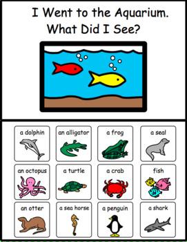 AQUARIUM.   I Went to the Aquarium.  What Did I See?