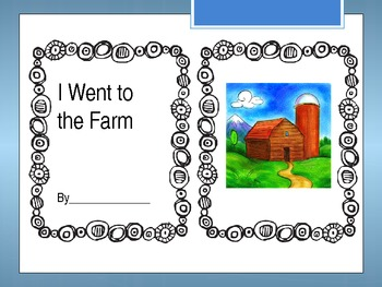 I Went to the Farm, Farm Themed Writing