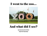 I Went to the Zoo! book with manipulatives