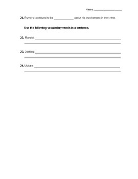 I Will Always Write Back Novel Quiz Part 2 with answer key