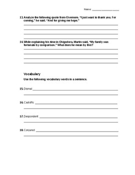 I Will Always Write Back Novel Quiz Part 6 with answer key