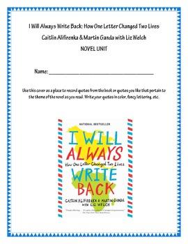 I Will Always Write Back Novel Unit By Katie Radle Tpt