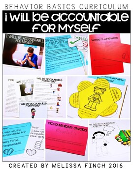 I Will Be Accountable for Myself-  Behavior Basics Program for Special Education