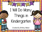 I Will Do Many Things in Kindergarten Book