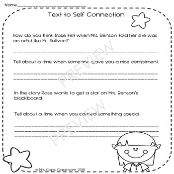 I Will Never Get a Star on Mrs. Benson's Blackboard ~ Book Companion