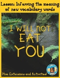 I Will Not Eat You by Adam Lehrhaupt Lesson & Book Companion - Distance Learning