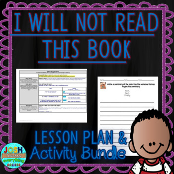 I Will Not Read This Book by Cece Meng 4-5 Day Lesson Plan and Activities