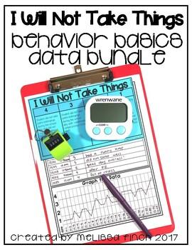 I Will Not Take My Friends Things- Behavior Basics Data Bundle
