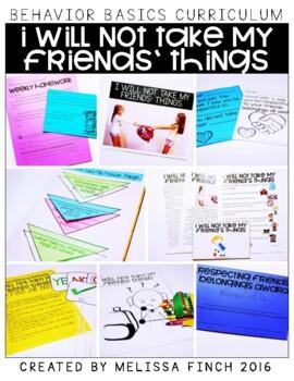 I Will Not Take My Friends Things-  Behavior Basics Program
