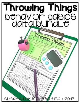 I Will Not Throw Things- Behavior Basics Data Bundle