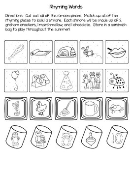 I Will Practice S'more This Summer--A Kindergarten Summer Literacy Review Packet
