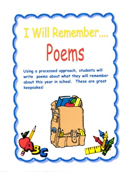 I Will Remember......Poems