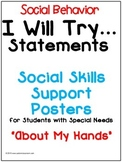 Social Skills Posters - (About My Hands) Autism and Specia