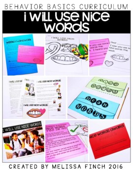 I Will Use Nice Words-  Behavior Basics Program for Specia