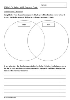 I Wish I'd Sailed With Captain Cook by Leonie Young - 6 Worksheets