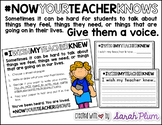 I Wish My Teacher Knew {Now Your Teacher Knows}