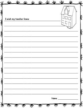 I Wish My Teacher Knew (Writing)