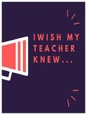 I Wish My Teacher Knew_____.