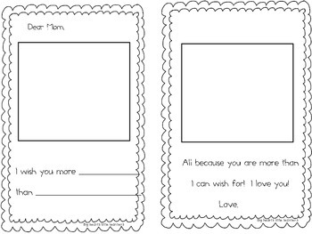 I Wish You More: A Mother's Day and Father's Day writing activity for K-3