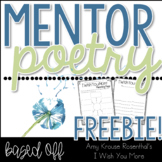 I Wish You More Mentor Poetry