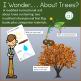 I Wonder About Trees modified informational text unit