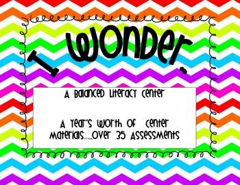 I Wonder  Balanced Literacy Center Open Ended Higher Order