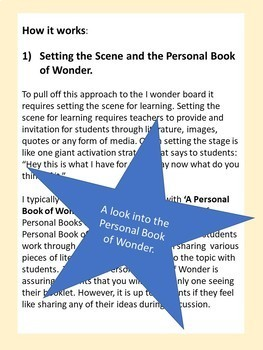 I Wonder Board ( A practical approach to filling your classroom with wonder)