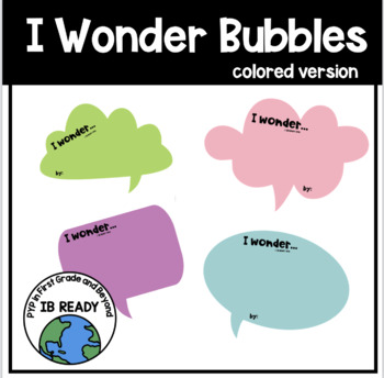 I Wonder Bubbles (Colored Version)