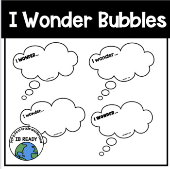 I Wonder Bubbles for the Classroom