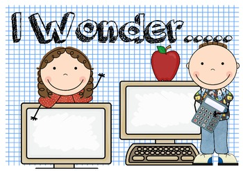 I Wonder... Classroom Poster to Promote Questioning & Research