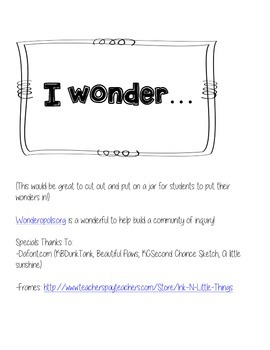 I Wonder Journal - Intermediate