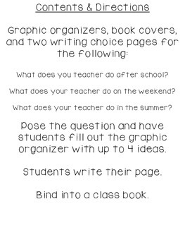 Opinion Writing: I Wonder What My Teacher Does?