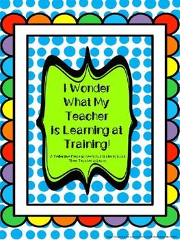 I Wonder What My Teacher is Learning! Emergency Sub Writin