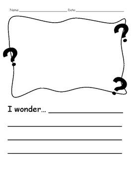 I Wonder... Wonder Area Inquiry