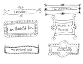 Personalized Writer's Notebook Journal Headings -Writing
