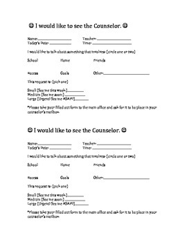 I Would Like to See the Counselor Form