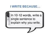 I Write Because...
